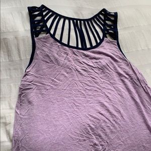 Purple Tank Top with Blue Accent
